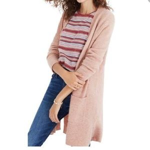 ISO Madewell Kent cardigan in Carnation